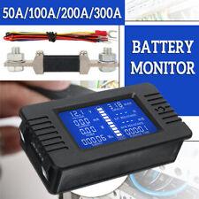 LCD Display DC Battery Monitor Meter 200V Voltmeter Amp For Car RV Solar System