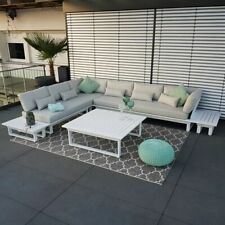 ICM Gartenlounge St.Tropez Aluminium weiß Outdoorlounge Lounge Modul Set Alu neu