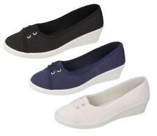 Zapatos de tacón de mujer de color principal azul de lona Talla 39