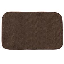 """Bath Mat 20"""" x 31.5"""" Brown Faux Fur Sable Cushioned"""