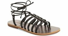 * LUCKY BRAND Colette Black Leather Lace Up Gladiators 7.5 *