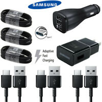 Original Samsung Galaxy S8 S10 Plus Note 8 9 Fast Car Wall Charger Type-C Cable
