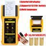 Car Truck Battery Load Tester Analyzer Diagnostic Scan Tool w/ Printer 6/12/24V