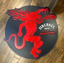 Fireball Whiskey Large Round Metal Sign Bar Advertising Display Mancave 32""