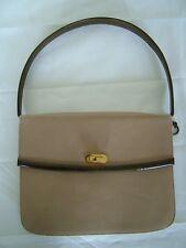 Vintage 70s 80s Rayne taupe leather shoulder bag handbag