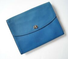 Coach 61987 Legacy collection Large Leather Universal Clutch Blue