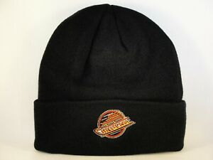 Vancouver Canucks NHL Zephyr Throwback Cuffed Knit Hat Black