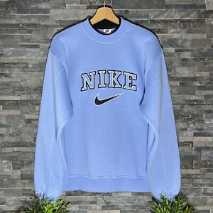 Vintage 90s Nike Spell Out sweatshirt / crewneck  Baby Blue Nike spellout XL