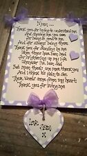 MOTHER'S DAY GIFT....Handmade Wooden THANK YOU MUM plaque - keepsake, gift