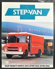 Vintage Sales Brochure 1976 Chevrolet Step Van