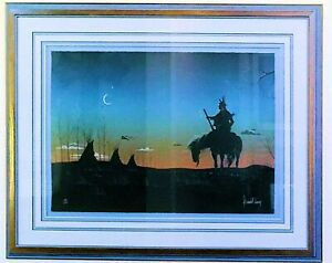 Donald Vann Cherokee Messenger Of The Evening Very Rare Sold Out Museum Mounted