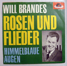 "COVER ONLY - WILL BRANDES ""Rosen und Flieder"" D orange POLYDOR PS VG++ 60er"