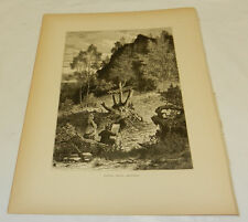 1874 Antique Print/EAGLE ROCK, ESSEX COUNTY, NJ, b/w SCENE ON THE PASSAIC