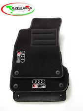 Audi A4 B6/B7 S-Line 2001/2008  tappetini velluto 4 ricami 8 autoblock