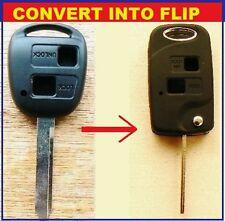 FOR Toyota 2 Button key Fob Case Yaris Rav4 Town Ace FLIP KEY Repair UK seller