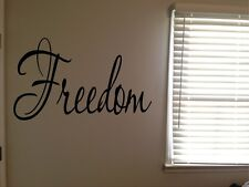 Freedom Inspirational Word Fancy Pretty Home Vinyl Wall Decal Quote Sticker