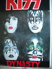GENE SIMMONS/KISS SIGNED DYNASTY POSTER COA + PROOF! RARE