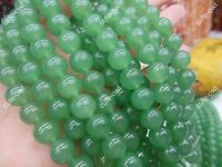 "Genuine 4 6 8 10 12mm Natural Green Jade Round Gemstone Loose Beads 15"" Strand"