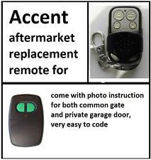 ACCENT CAD602 B&D homelink GARAGE DOOR REMOTE CONTROL DUAL ACCESS