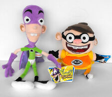 Rare Nickleodeon FANBOY and CHUM CHUM Plush figures 15 inches 2011 MINT SPAIN