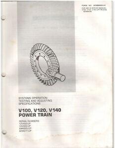 Cat V100-V140 Power Train Testing & Adjusting Specs Manual (SENB8083-01) {D1278}