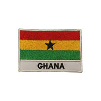 Ghana Country Flag Patch Iron On Patch Sew On Badge Embroidered Patch