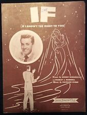 Vintage sheet music - If - 1950s Vic Damone cover