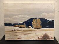 "Vintage Michael E. Bartlett Original Painting ""Wheeler Mountain Farm"""