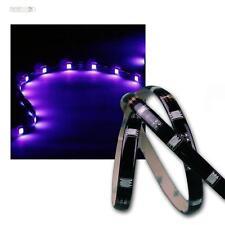 1m flexibler SMD LED Streifen UV/Schwarzlicht IP44, Lichtband Lichtleiste 12V DC