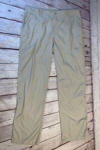 Columbia PFG Womens Cream Fishing Outdoor Pants Omni-Shade Size 10