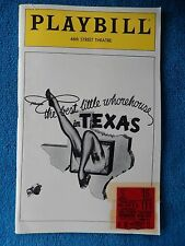 The Best Little Whorehouse... - 46th Street Theatre w/Ticket - Jan. 11th, 1980