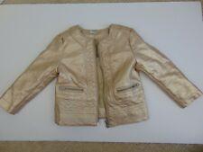 Genuine Kids from Oshkosh Girls Gold Faux Leather Jacket 2T