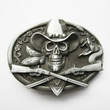 Original Cowboy Skull Rifles Western Belt Buckle