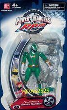 """Power Rangers RPM Full Throttle Green Shark Ranger New 5"""" Factory Sealed 2009"""