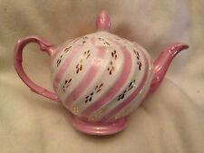 Ellgreave English Ironstone Teapot - Lavender & White Swirl w/Gold Accents!
