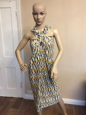 Missoni Bodycon Dress Knitted Size 42 Uk 10 Green Below Knee 3/4 Length Vgc