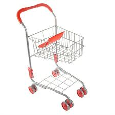 Pretend Play Shopping Cart for Toddlers Pivoting Front Wheels Grocery Cart