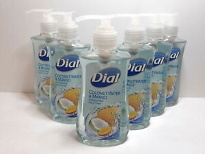6 Pack DIAL Liquid Coconut Water & Mango Hydrating Hand Soap 7.5 oz. Free Ship