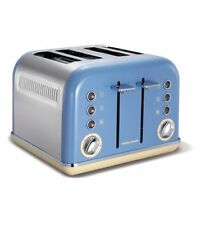 Retro Style Morphy Richards 4 Slice Toaster Variable Width Slots Defrost  Blue