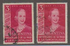 D0427 : Argentine #627, #628 D'Occasion , VF, Son; Cv