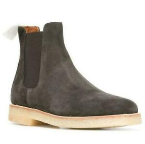 Chelsea Mens Suede Slip On Ankle Boots High Top Leather Leisure Shoes Punk Hot