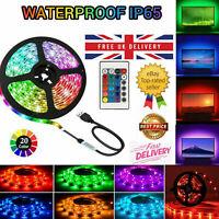 1m-5m LED 5050RGB Strip Lights Colour Changing Waterproof Tape Kitchen Lighting