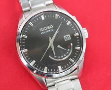 Seiko Kinetic srn045p1 acciaio inox Quarzo Orologio Uomo 40 mm