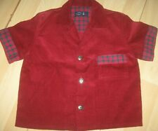 baby boys designer one off babycord shirt age 18-24m new with tags