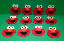 Sesame Street lot 24 Elmo Faces Die Cuts Scrapbooking, Party & Card Decorations