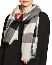 Burberry super lightweight mega check scarf. Authetic. Heritage Stone MSRP: $695