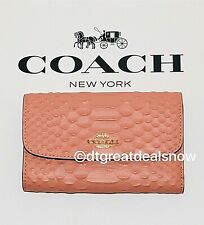 NWT Coach PYTHON Medium Envelope Wallet in Light Coral F73566