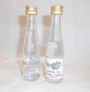 Lot de 2 mignonettes Poire WILLIAM'S Non Ouvertes crème/eau de vie Orléanais