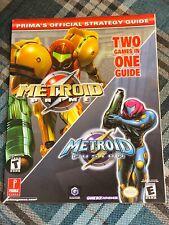 Metroid Prime / Metroid Fusion - Prima strategy guide book