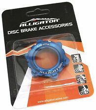 Alligator DISC Brake Rotor Center-Lock Adapter for 15/20 mm thru-axle hub, Blue